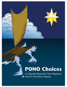 """The cover of the """"Pono Choices"""" outline for teachers. Image courtesy HIRA."""