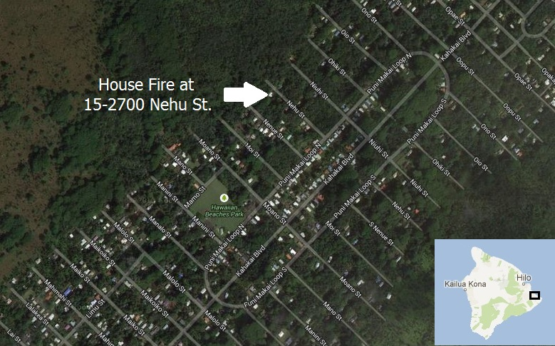 Fire Damages Home In Puna Subdivision Of Hawaiian Beaches
