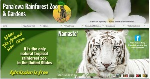 Namaste was literally the face of the zoo, as this partial screenshot of the zoo's website shows.