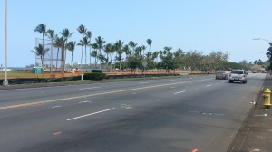 The two left-hand lanes on this stretch of Kamehameha Avenue will be closed for about seven months beginning on Monday. Photo by Dave Smith.