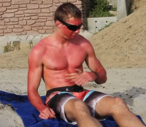The whiter you are, the redder you'll get. University of California San Diego.