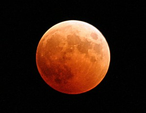 A total lunar eclipse as seen from Washington in 2004. US Navy photo.