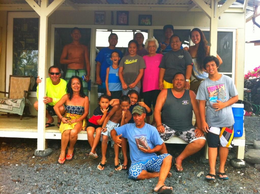 The Ahu family in Miloli`i. Courtesy photo.