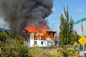 A witness said the flames progressed downward. Photo courtesy Hans Rainer Hemken/HRH Photography.