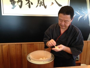 Chef Mitsuru Igarashi of Takenoko Sushi. Photo by M's Photography.