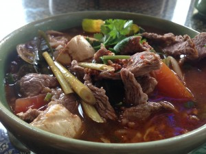 Thai Thai Restaurant's Tom-Yum soup with beef shortribs. Photo by Nate Gaddis.