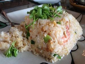 Thai fried rice at Thai Thai restaurant. Photo by Nate Gaddis.