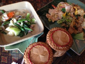 An assortment of Thai Thai's curry and vegetable dishes. Photo by Nate Gaddis.