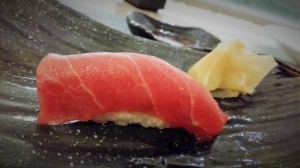 Toro (fatty tuna) Nigiri sushi from Norio's. Photo by Kristin Hashimoto.