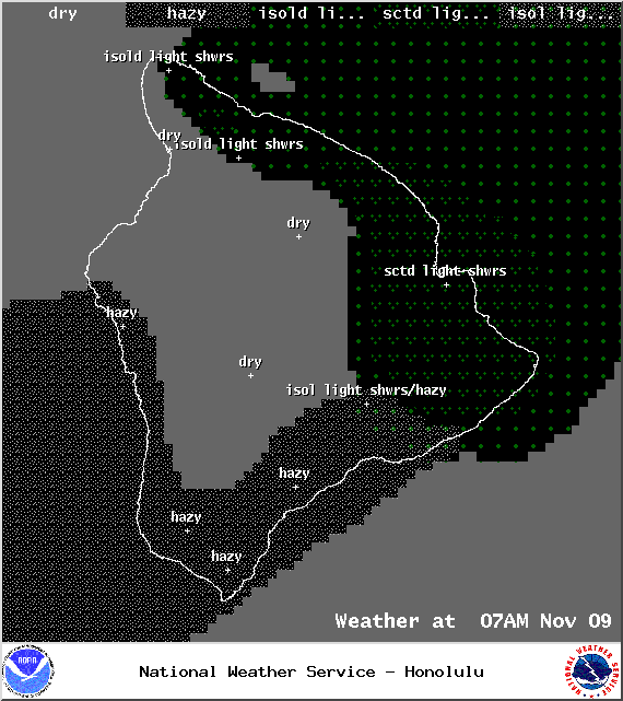 Expected weather conditions at 7am - Image: NOAA / NWS