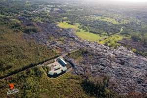 This photo taken on 11/17/14 shows the once active lava flow near the Pahoa Transfer Station. File photo.
