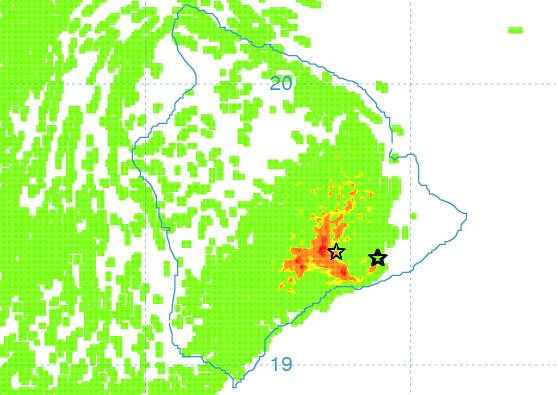 Vog forecast 12/9 afternoon / Image: UHSOEST