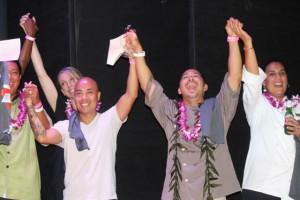 Maui chefs after Project Kōkua for Hawai'i Island held on Maui in September 2014 raised $28K. Photo credit: Ka'uhane Inc.