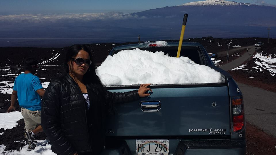 Mauna Loa snow on 3.15.15 / Image: Sheryl Paguirigan