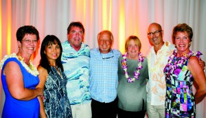 Hawaii Island Humane Society Celebrates $1 Million Capital Campaign Donation (L to R): Donna Whitaker (HIHS Executive Director), Vivian Dixon & John Chapple, John & Anne Ryan, Scott Dodd (Co-Chair Capital Campaign Committee) and Barbara Kildow (Co-Chair Capital Campaign Committee). Courtesy photo.