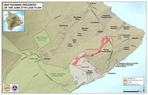 Hawai'i County Civil Defense map.