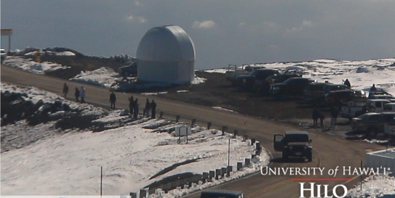 Mauna Kea snow 3.15.15 / Image: UH-Hilo