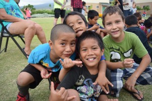 Children and residents of The Homes at Ulu Wini. HOPE Services Hawai'i photo.