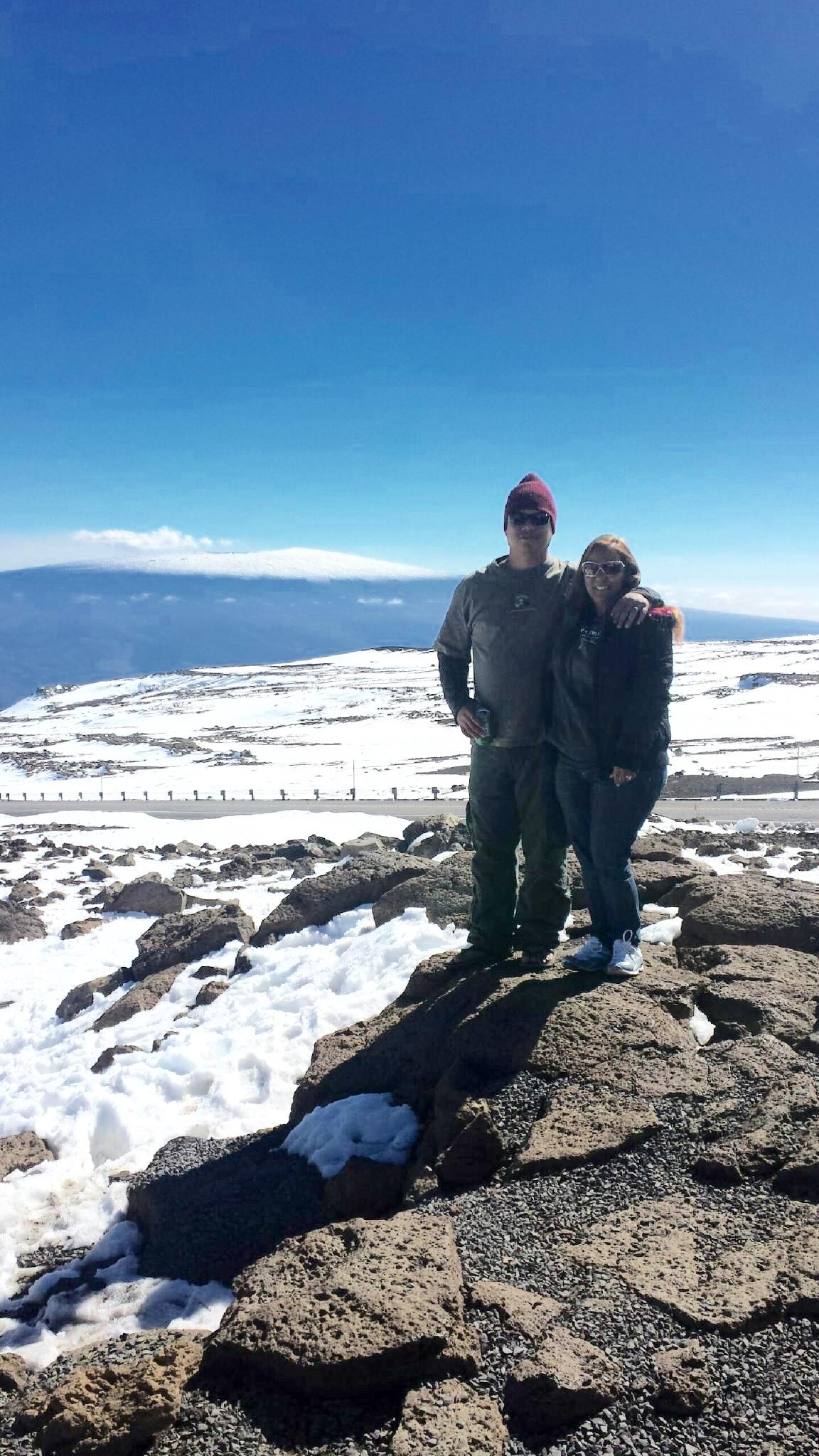 Mauna Kea snow 3.15.15 / Image: Georgeann Reyes