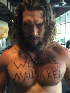 Jason Momoa. Mauna Kea Hui of  Protector's photo.