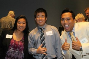 Therrien shown on the right during a Boys and Girls Club of the Big Island Youth of the Year Event.  Courtesy photo.