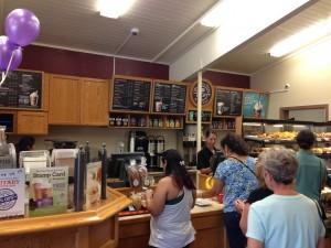 Customers line up inside. Photo credit: Jamilia Epping.