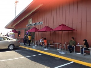 Outside view of the 19th and newest location of The  Coffee Bean & Tea Leaf in state. Photo credit: Jamilia Epping.