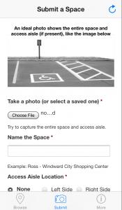 Screenshot of the dpark.us app.
