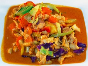 Stir fried cashew.  Photo courtesy of Tuk Tuk Thai Food website.