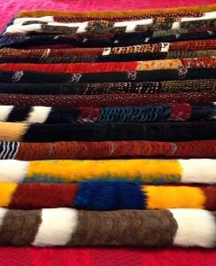 Feathered hat bands. Photo courtesy of Rick Makanaaloha Kia'imeaokekanaka San Nicolas