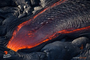 June 25: A finger of pahoehoe breaks out from the side of a tube. Photo: Extreme Exposure Media/Paradise Helicopters.