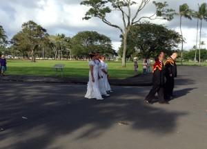 Ahahui O Ka'ahumanu Helu 'Ekolu and Hale O Na Ali'i Hawai'i Halau O Kalakaua, 19th Annual Ka 'Ahulei O Kamehameha. Photo: Jamilia Epping.