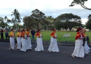 Hale O Na Ali'i Hawai'i Halau O Kalakaua, The 19th Annual Ka 'Ahulei O Kamehameha. Photo: Jamilia Epping.