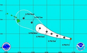 National Hurricane Center image as of 5 p.m.