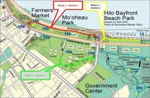 Hawai'i County Department of Parks and Recreation courtesy map.