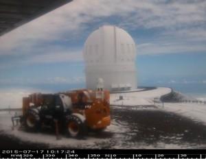 CFHT Webcam image facing north.