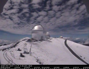 CFHT Webcam image facing south as of 10:21 a.m.