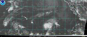NOAA satellite image as of 11 p.m. Friday.