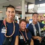 From l-r: Ikaika Morita-Sunada, Chaunci Cummings, and Isaiah Wong. Photo credit: Special Olympics Hawai'i.