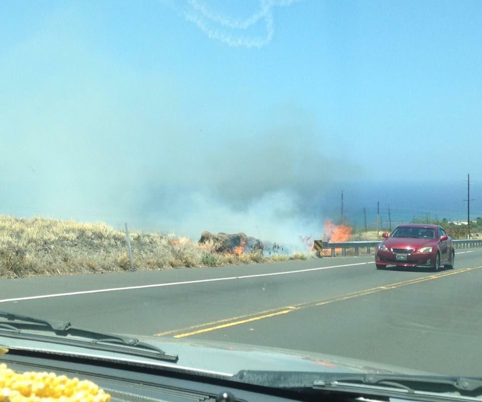 Update Brush Fire Burns In Kawaihae Big Island Now