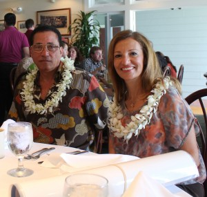 Dr. Hany Guirguis and his wife Madeleine Guirguis have attended a graduation luncheon to present a ceremonial check every spring since the first class of PharmDs graduated in 2011. University of Hawai'i at Hilo photo.