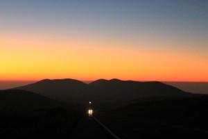 Saddle Road at night. Photo by: Megan Moseley