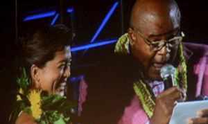"""Chi McBride """"sings"""" Hawaii Five-0 theme with the help of Grace Park (Kono)"""