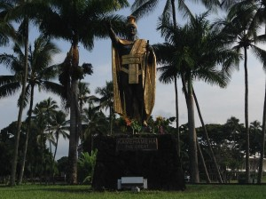 King Kamehameha Statue in Hilo , photo taken Sunday, Sept. 6. Photo credit: Jamilia Epping.