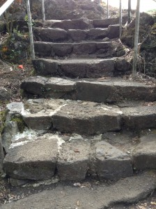 Stairway to the upper area of Rainbow Falls. Photo: Jamilia Epping.