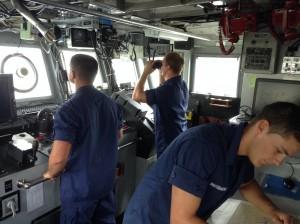Seamen Chad Dautzenberg, Gunner's Mate 2 Angelo Melita, Seamen Vincent Chao. Photo credit: Jamilia Epping.