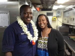 Food Specialist Jarod Williams and Joylynn Williams. Photo credit: Jamilia Epping.
