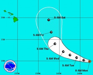 National Hurricane Center image, as of 5 a.m.