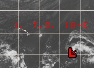 Central Pacific hurricane Center image, as of 7:30 a.m.