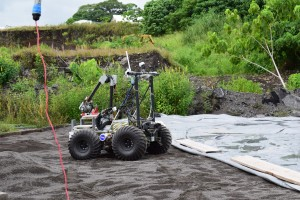 PISCES Basalt Landing Pad Project at Puna Rock. Photo: Jamilia Epping.